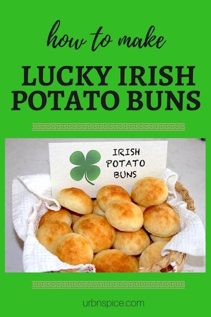 Lucky Irish Potato Buns long pin | urbnspice.com
