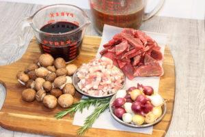 Burgundy Beef ingredients   urbnspice.com