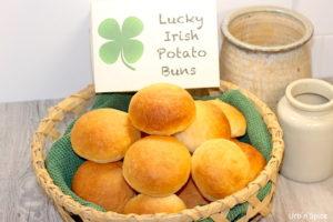 Lucky Irish Potato Buns | urbnspice.com