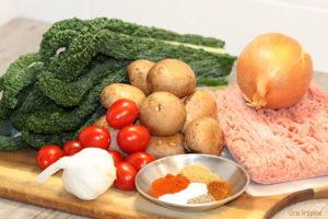 Turkey, Mushroom and Power Greens Pasta Ingredients   urbnspice.com