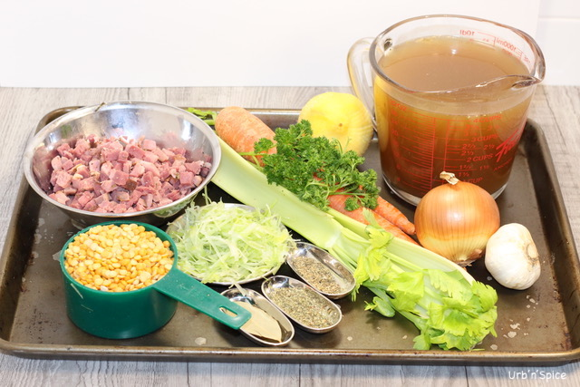 French Canadian Yellow Split Pea Soup Ingredients | urbnspice.com