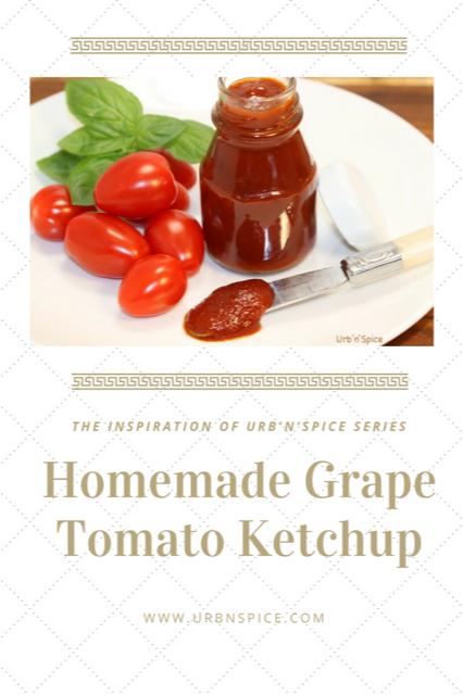 Homemade Grape Tomato Ketchup | urbnspice.com