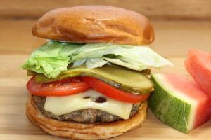 Turkey Mushroom Jarlsberg Burger   urbnspice.com