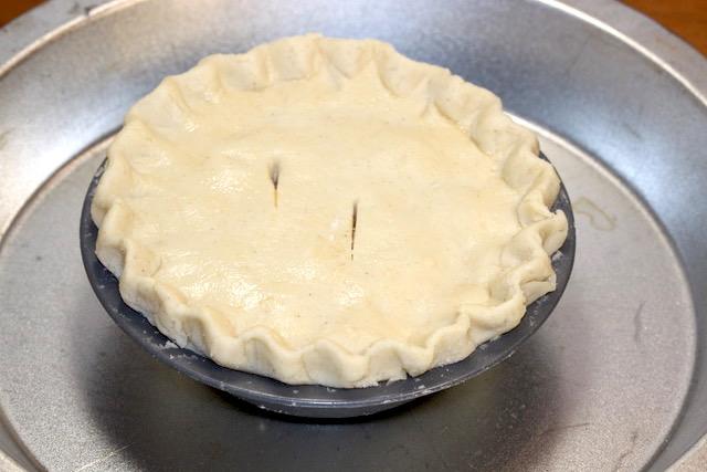 Pickle Pie using Gluten Free Pate Brisee pie pastry | urbnspice.com