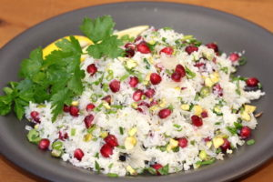 Pomelo in Cauliflower Tabbouleh | urbnspice.com