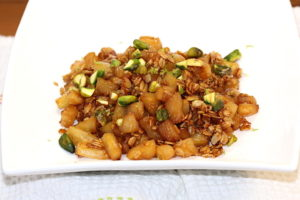 Caramelized Pineapple with Pistachios   urbnspice.com