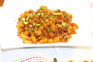 Caramelized Pineapple with Pistachios | urbnspice.com