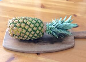 The entire Pineapple is used for tepache