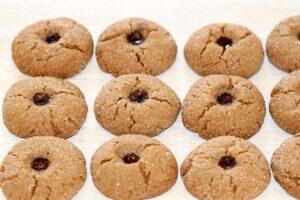 A tray of Pomegranate Molasses Sugar Cookies