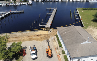Forked River State Marina New Bulkhead and New Dock Pedestal (VIDEO)