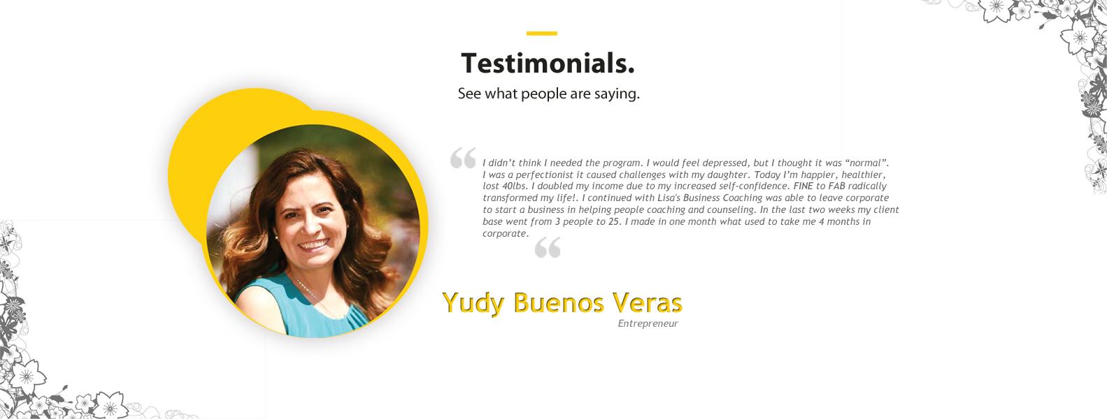 testimonial yudy buenos veras
