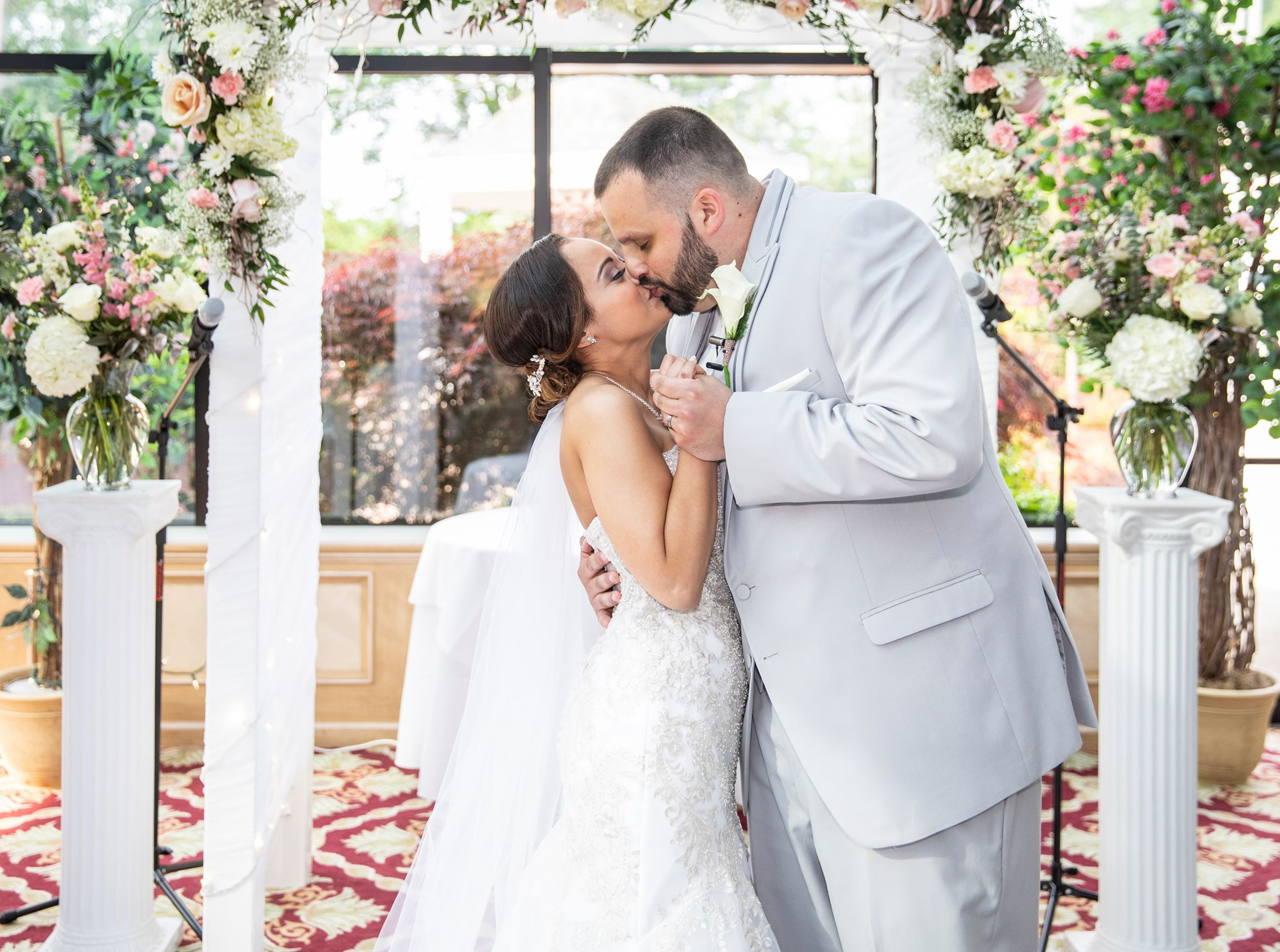 A ceremony of a beautiful wedding in New Jersey