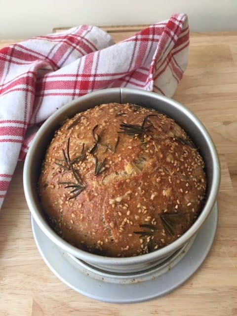 No-Knead Bread cooked in a Dutch Oven