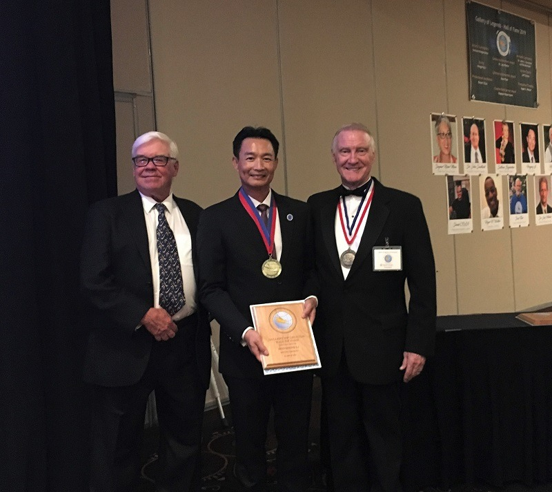 Congress banquet - John Dieninger, Hongping Li, David Jacobs b