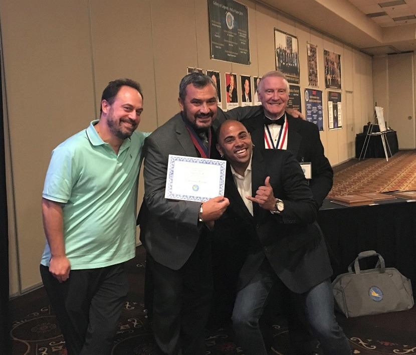 Congress banquet - Manu Durand, Daniel COLA, Wellington Lima, David Jacobs b