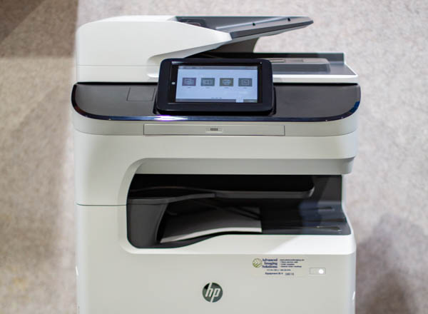 HP copier powered on