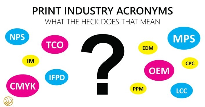 print industry acronyms