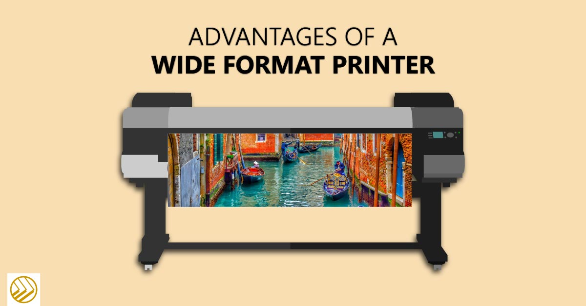 Wide format printer printer colorful scene
