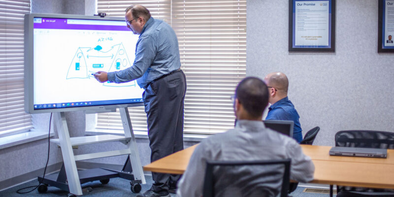 Interactive Flat Panel Display in action