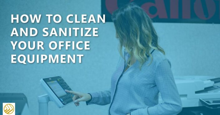 how to clean office equipment