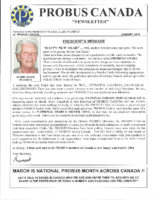 2016-01 PROBUS CANADA Newsletter