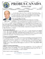 2018-04 PROBUS Canada Newsletter