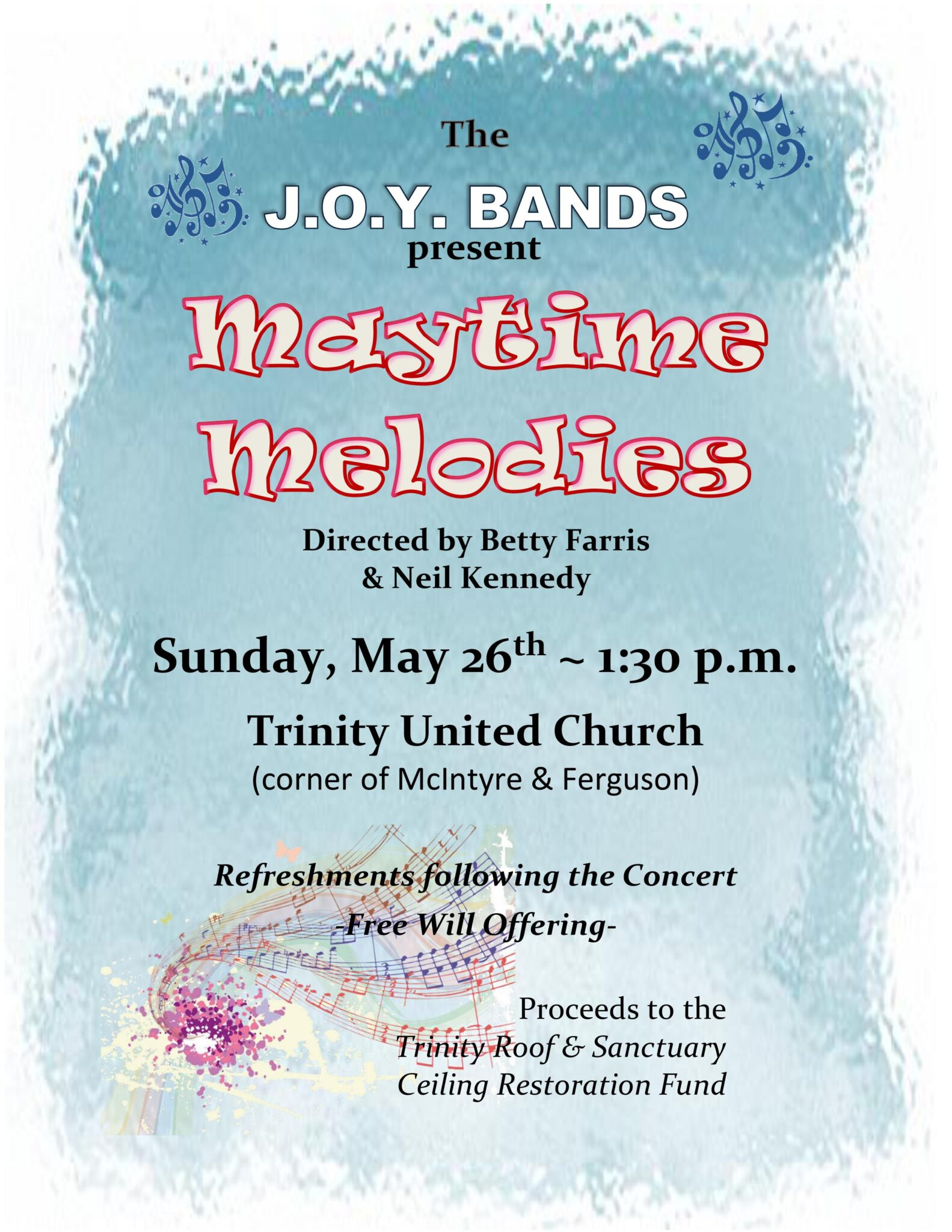 "JOY Bands' ""Maytime Melodies"" concert @ Trinity United Church"
