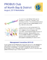 2019-08 North Bay & District newsletter