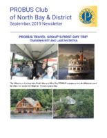 2019-09 North Bay & District newsletter