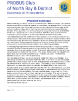 2019-12 North Bay & District newsletter