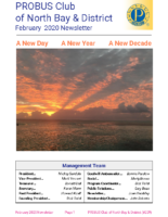 2020-02 North Bay & District newsletter