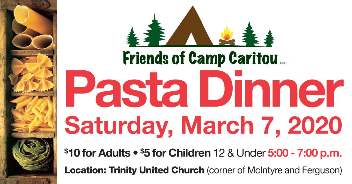 Friends of Camp Caritou - Pasta Dinner @ Trinity United Church