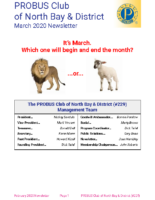 2020-03 North Bay & District newsletter