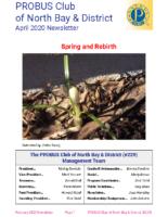 2020-04 North Bay & District newsletter
