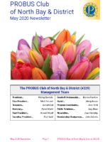 2020-05 North Bay & District newsletter