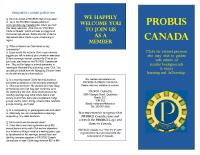PROBUS Canada – brochure