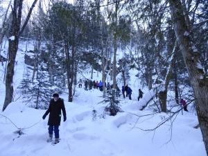 2020-02-20 Outdoors Club snowshoeing at Nordic 06
