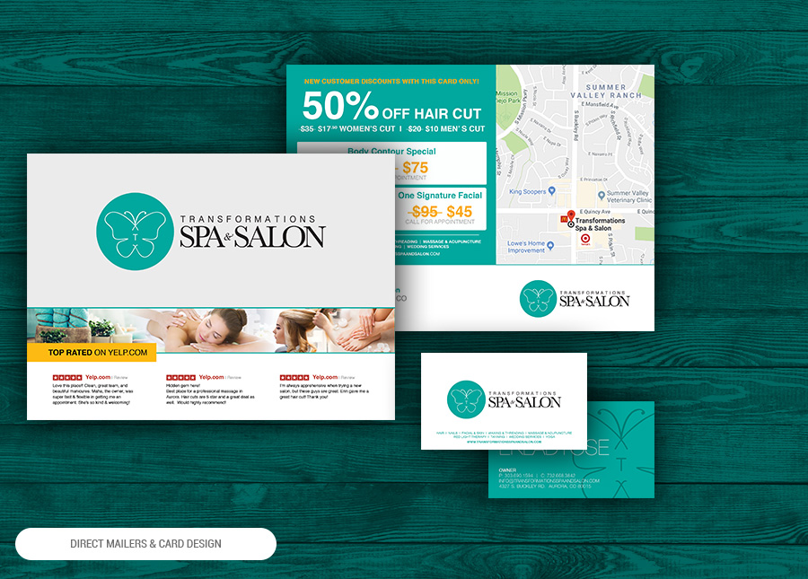 direct mail & postcard design with printing