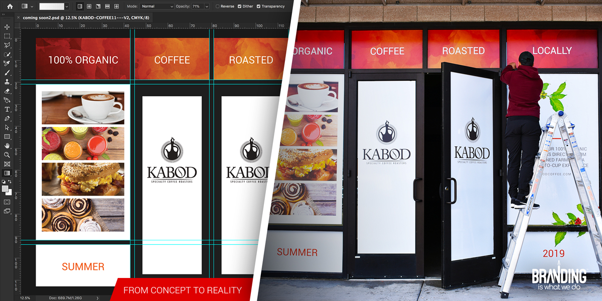 Window graphics design and printing