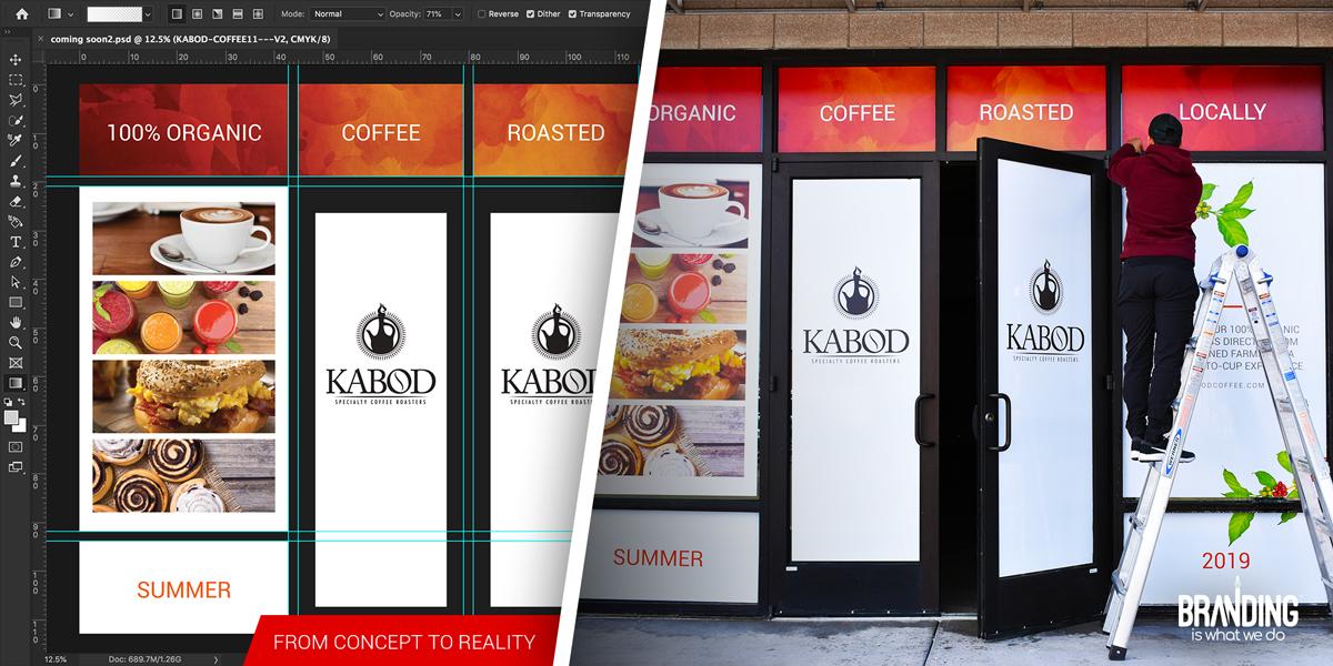 Window graphics design and printing