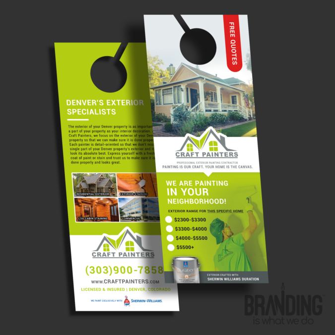 Denver Graphic Design for Door Hanger
