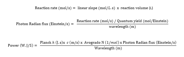 actinometry formulas