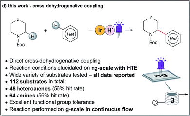 Enabling synthesis in fragment-based drug discovery by reactivity mapping: photoredox-mediated cross-dehydrogenative heteroarylation of cyclic amines
