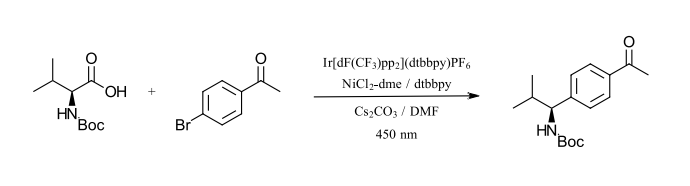 initial photochemistry reactions: Carbon-carbon formation between sp3 carbons and aryl halides