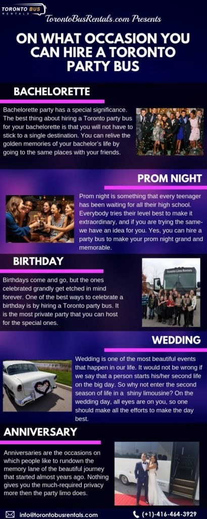 On What Occasion You Can Hire a Toronto Party Bus