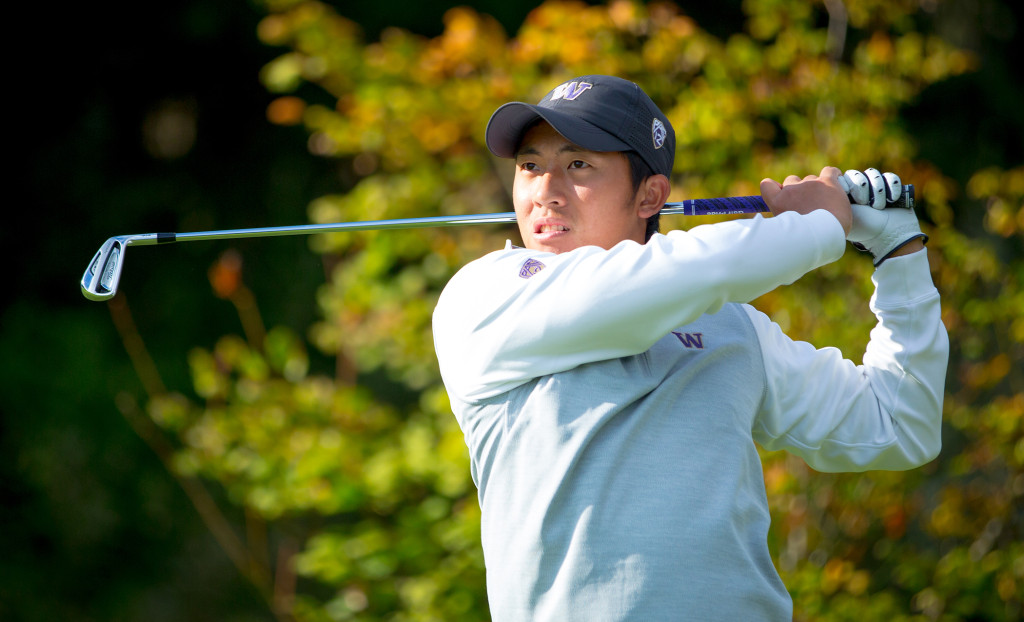 The University of Washington Huskies men's golf team at Aldarra Golf Club on September 25, 2013. (Photo by Scott Eklund/Red Box Pictures)