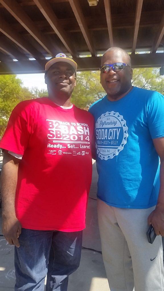DJ Steele with City of Columbia Mayor, Mayor Steve Benjamin