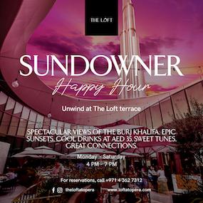 Sundowner - The Loft at Dubai Opera