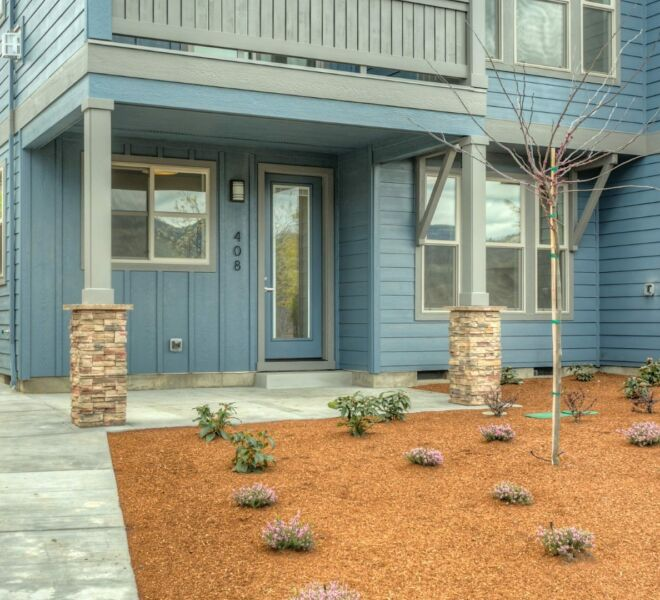 Landscaping of a home in the Billings Ranch community of Ashland, Oregon