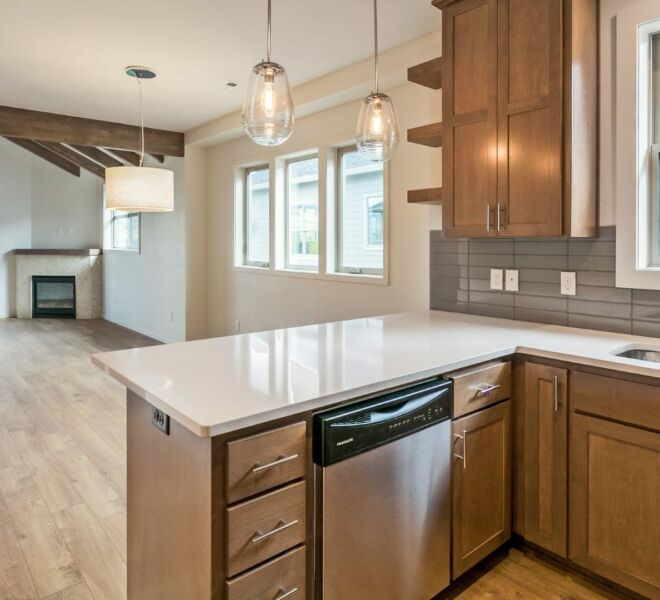 Kitchen countertops of a home in the Billings Ranch community of Ashland, Oregon